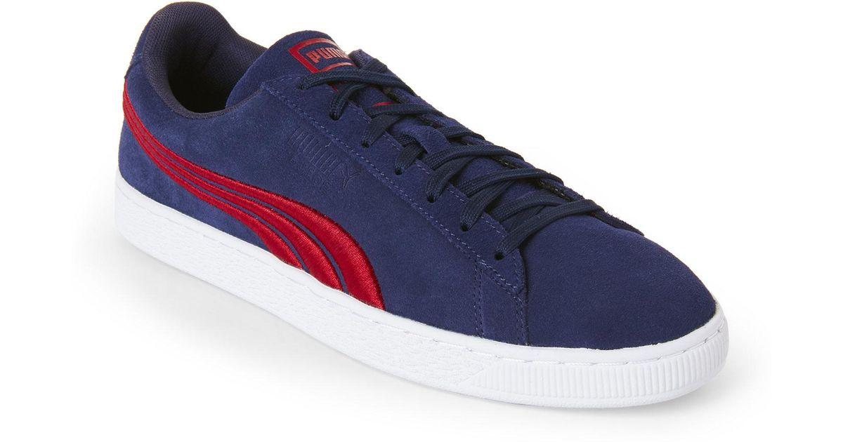 puma suede blue red