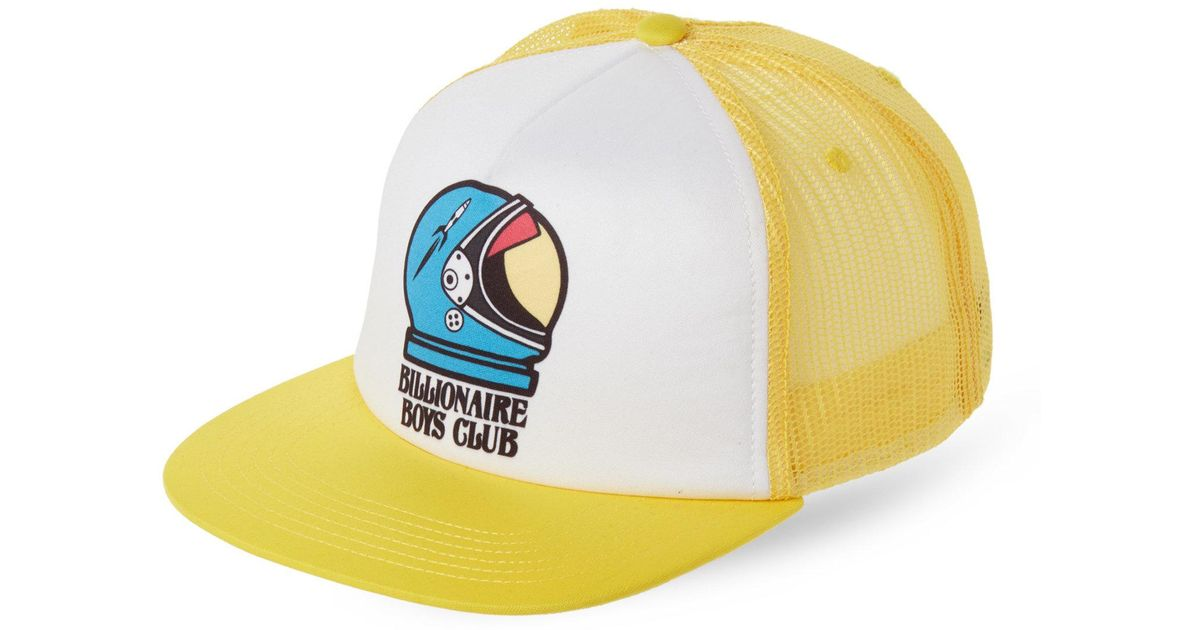 b534b52e2d8 Lyst - BBCICECREAM Apollo Trucker Hat in Yellow for Men