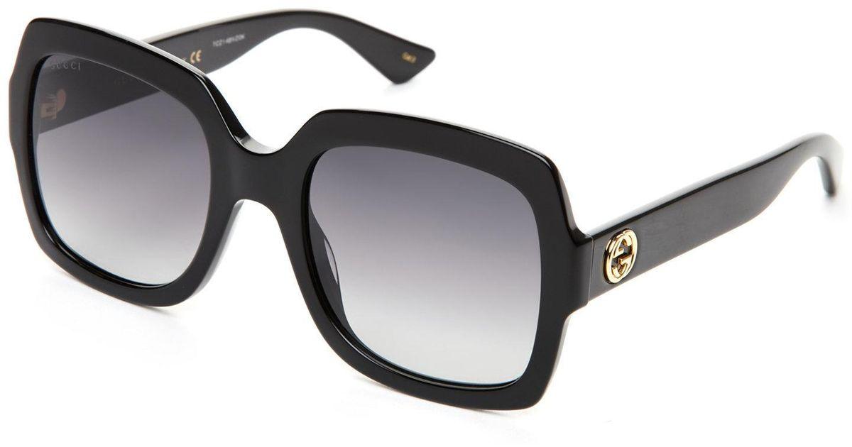 1ed1f374d2c5d Gucci Gg 0036 S Black Xl Square Sunglasses in Black - Lyst