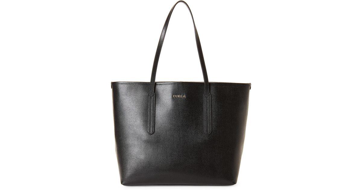 6b33d5b97cd1 Furla Ariana Open Leather Tote in Black - Lyst