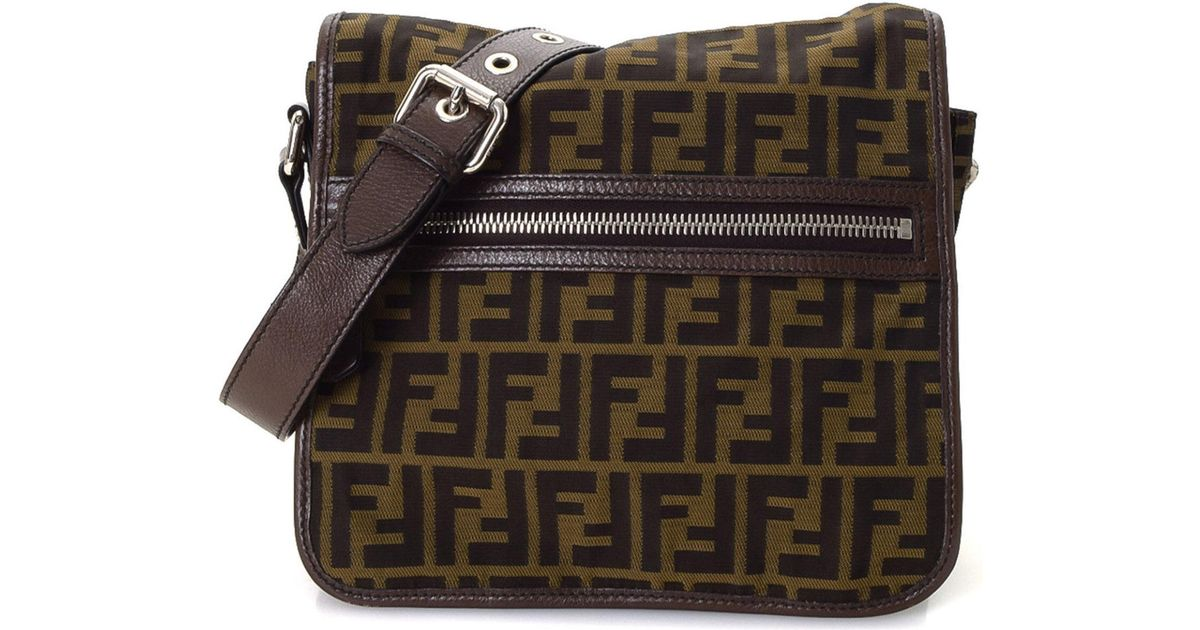 8e4a902e86e ... shoulder bag e8f43 fdf5d coupon for lyst fendi zucca crossbody vintage  in brown 264d3 87bf3 ...