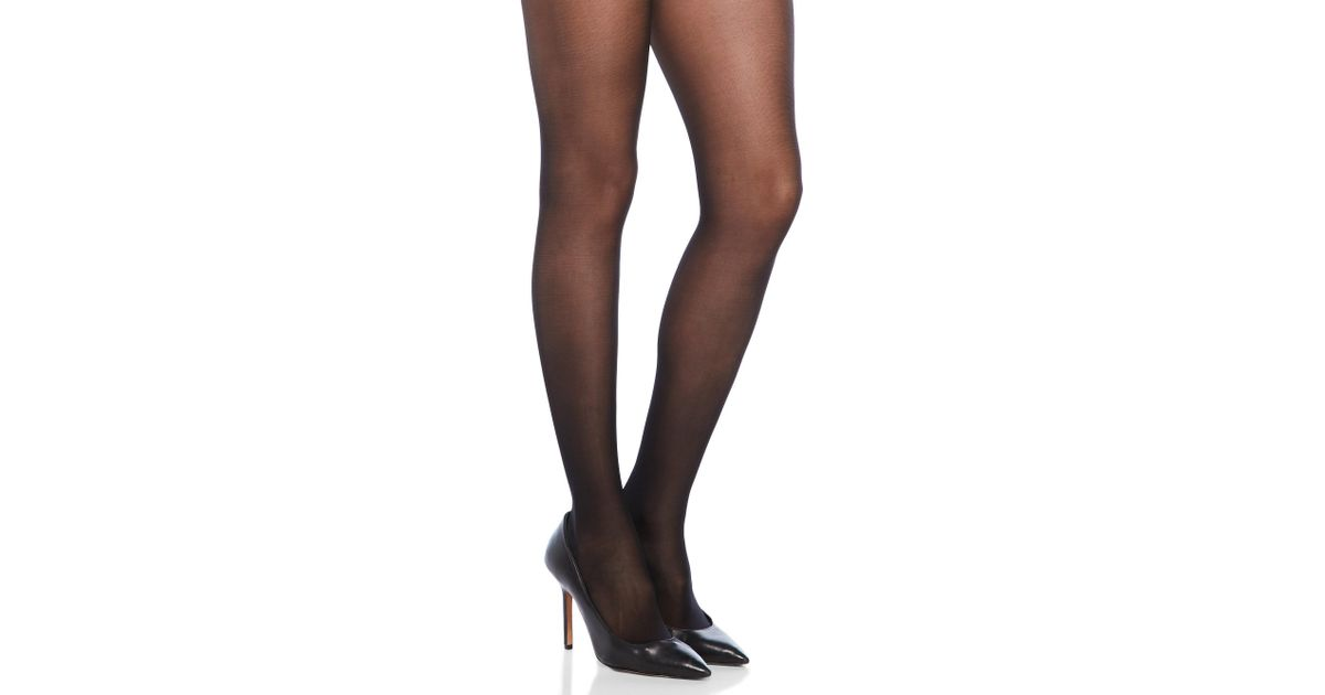 0bf78da66 Wolford Miss W Light Support Tights in Black - Lyst