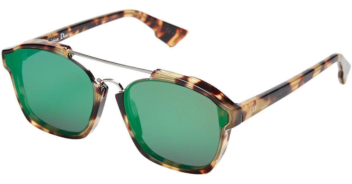 f39d350b1e7 Lyst - Dior Abstract 00f9s Light Tortoiseshell-look Square Sunglasses in  Green for Men