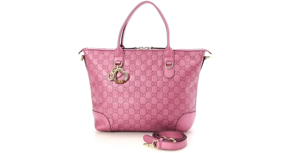 Lyst - Gucci Two-way Tote Bag - Vintage in Pink 66d130ef7d6dd