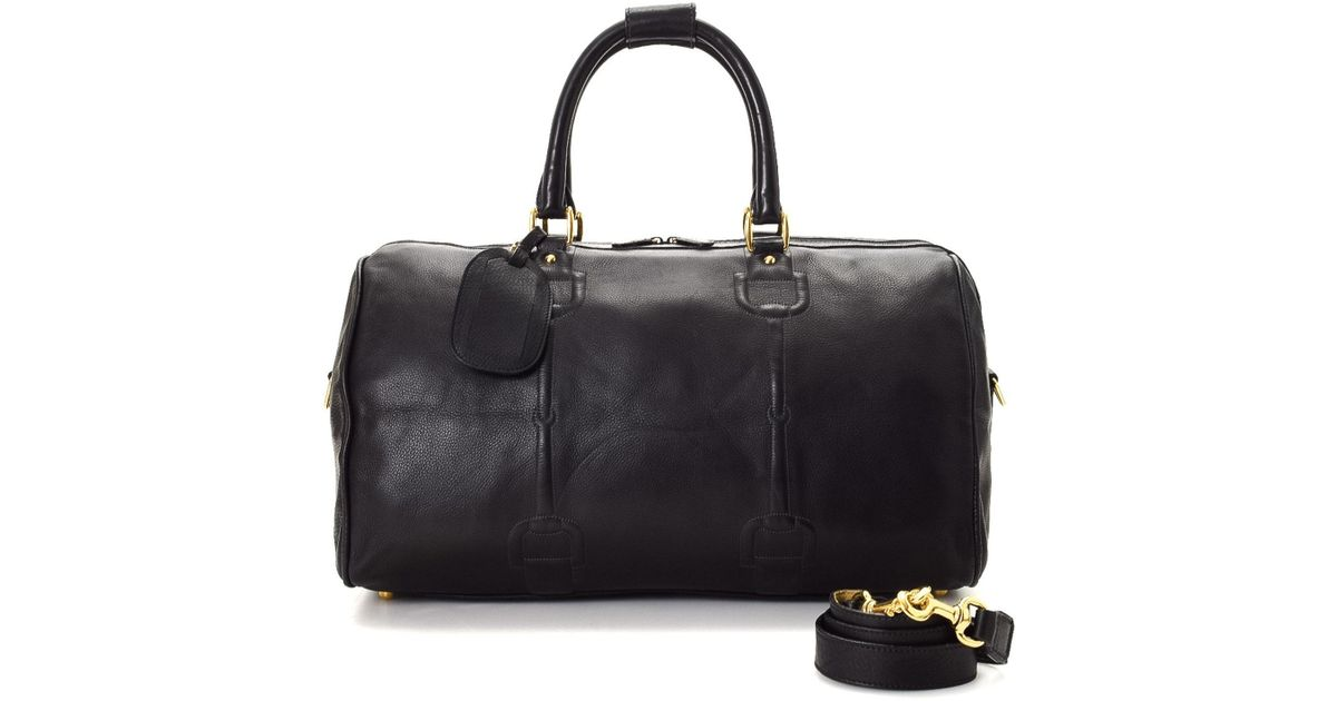 b59467d14 Gucci Horsebit Leather Travel Bag - Vintage in Black - Lyst