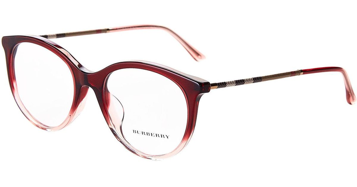 8975280dfb Lyst - Burberry B 2244-q-f Wine Ombre Cateye Optical Frames in Brown for Men