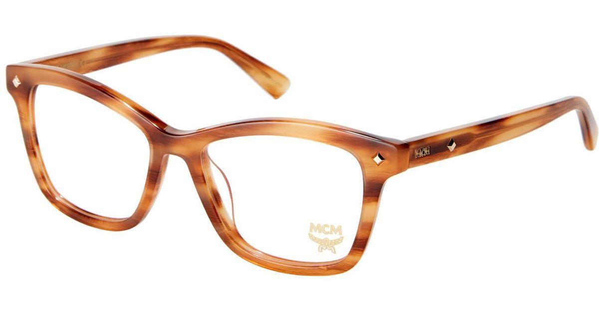 90513dd1a5 Lyst - MCM 2614 Cognac Square Frames in Brown