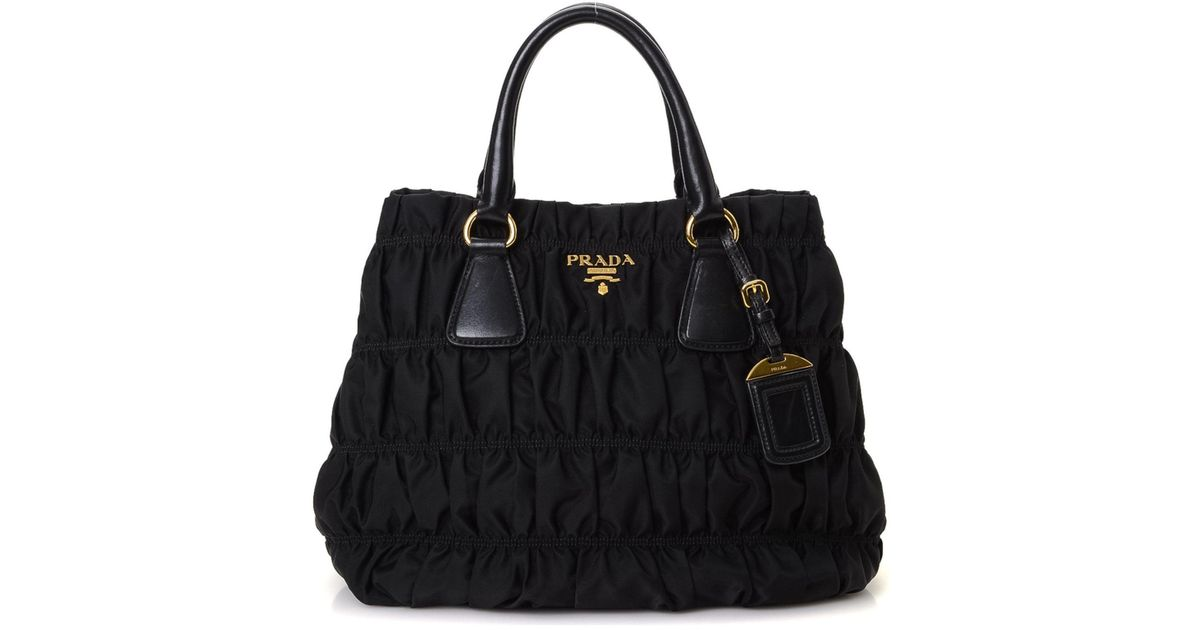c6abc20952a ... get lyst prada tessuto nappa gaufre tote vintage in black 15d36 2026a  ...