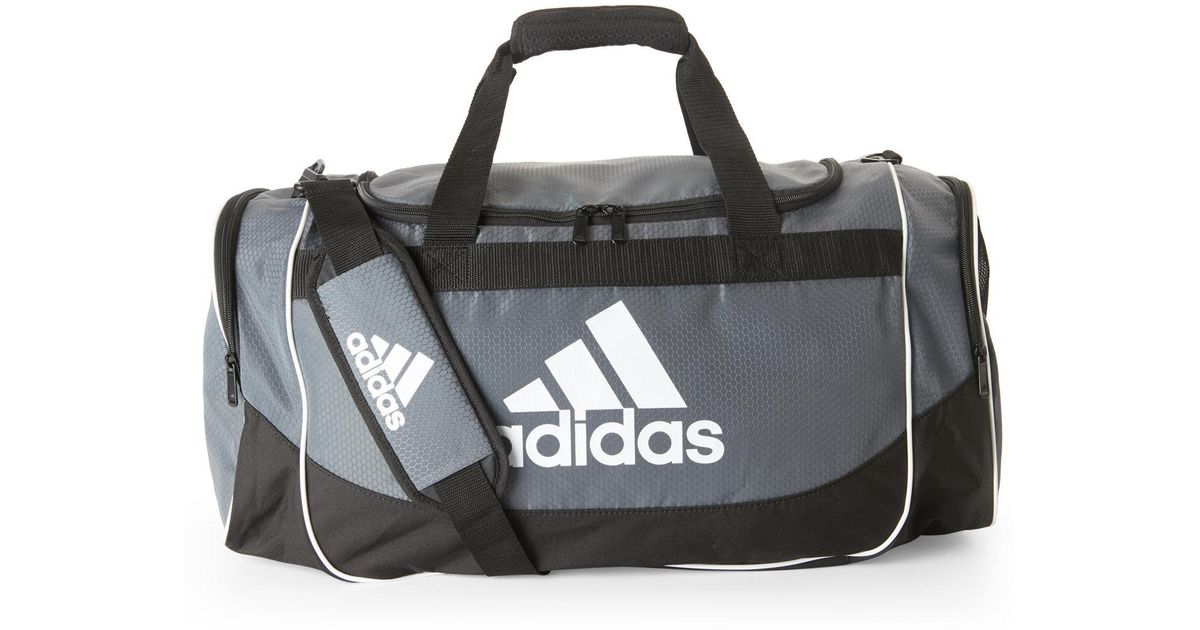 7dc664e8a5 Lyst - adidas Grey   Black Defense Medium Duffle Bag in Gray for Men
