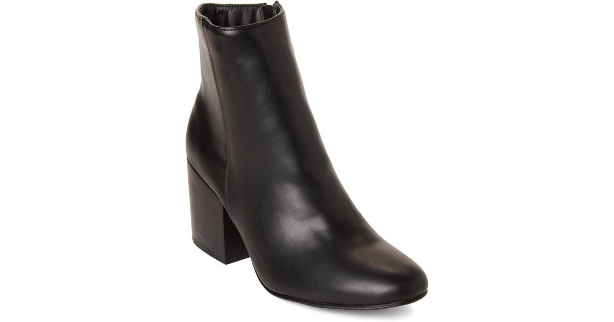 a3d90e33f768 Lyst - Madden Girl Black Aaden Ankle Booties in Black