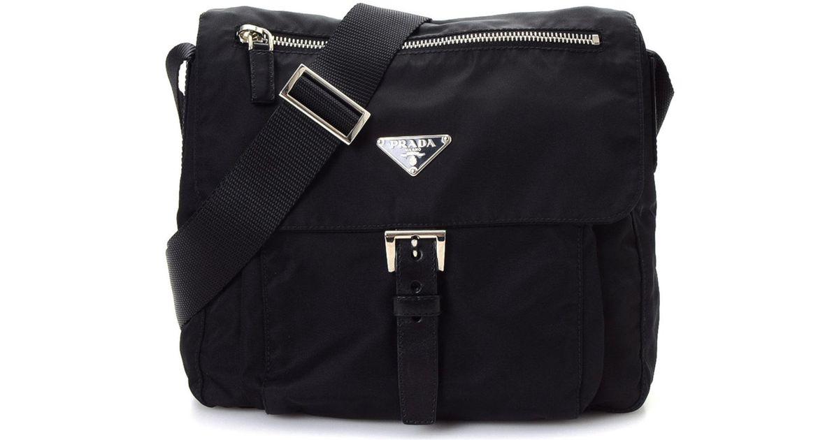 b88de88aa564f Lyst - Prada Tessuto Crossbody - Vintage in Black
