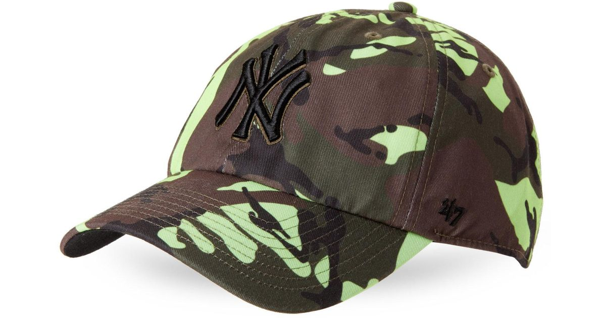 ba9ea060207 Lyst - 47 Brand New York Yankees Clean Up Camo Baseball Cap in Green for Men