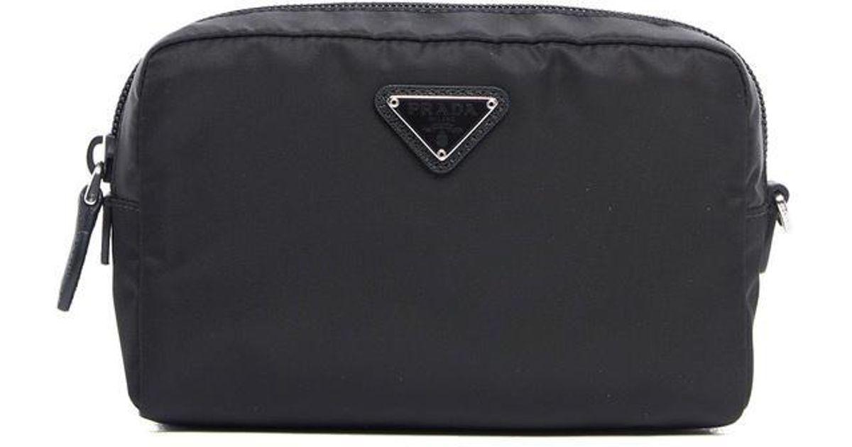 11671b19453e ... discount code for lyst prada makeup bag in black 0c7a8 c0d16