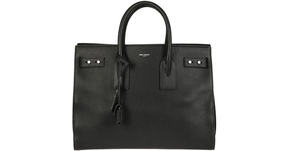 4e6c1b32d3 Saint Laurent Large Sac De Jour Souple Tote Bag in Black - Lyst