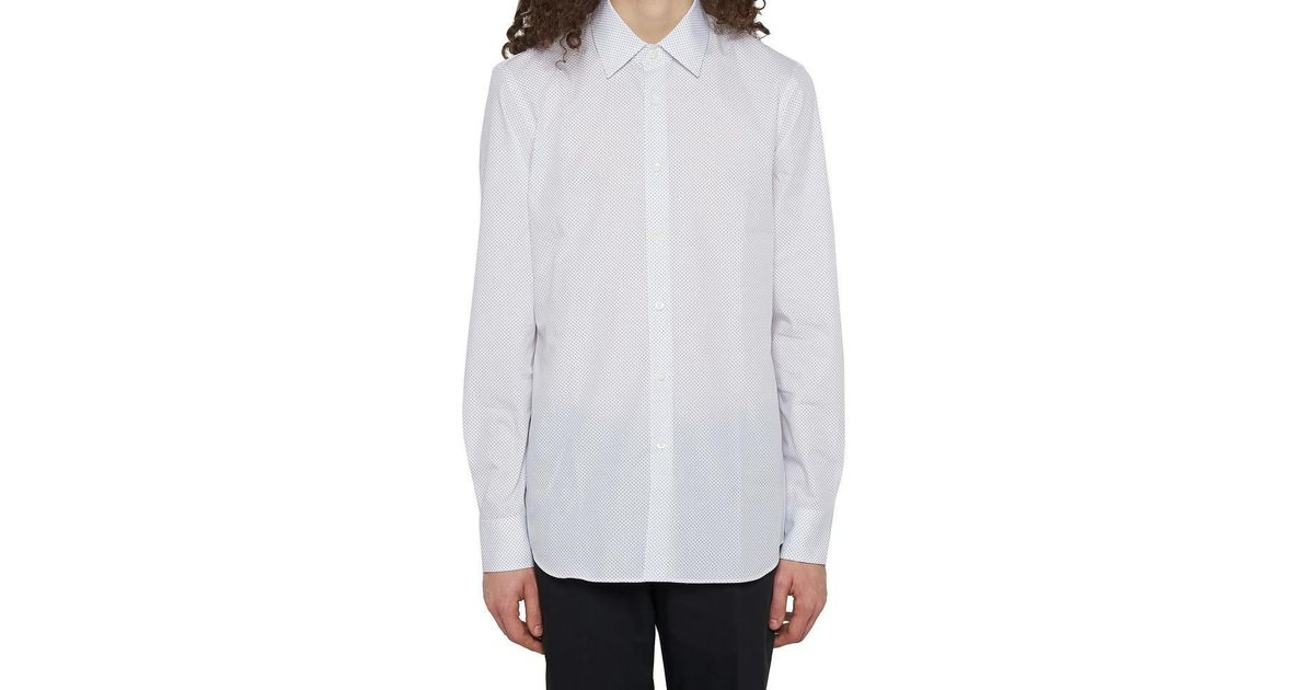 651ad7ff90e1b Lyst - Prada Dotted Shirt in White