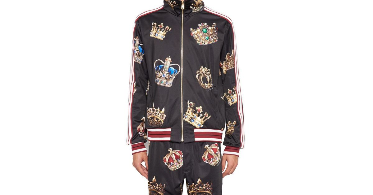 d36c215b006f Dolce & Gabbana Crowns 'king' Jacket for Men - Lyst