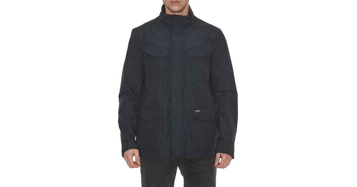 c31c58c24a5 Woolrich - Blue Zipped Travel Jacket for Men - Lyst
