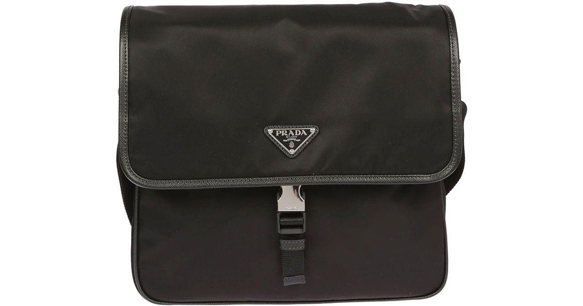 9b06aae281 ... spain prada vela messenger bag in black for men lyst 5b8c8 139f4