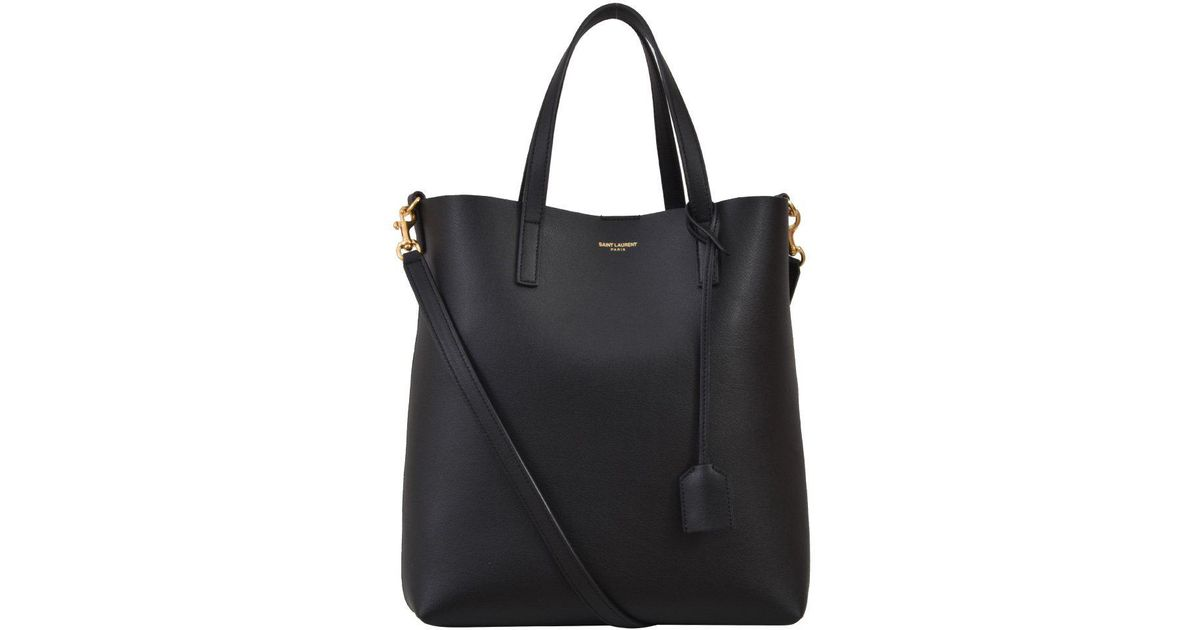eca53c7716ac Lyst - Saint Laurent Shopping Tote Bag in Black