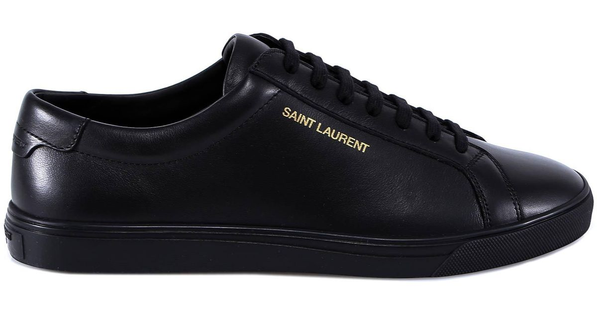 6e35fdf2f2e Lyst - Saint Laurent Andy Lace-up Sneakers in Black for Men