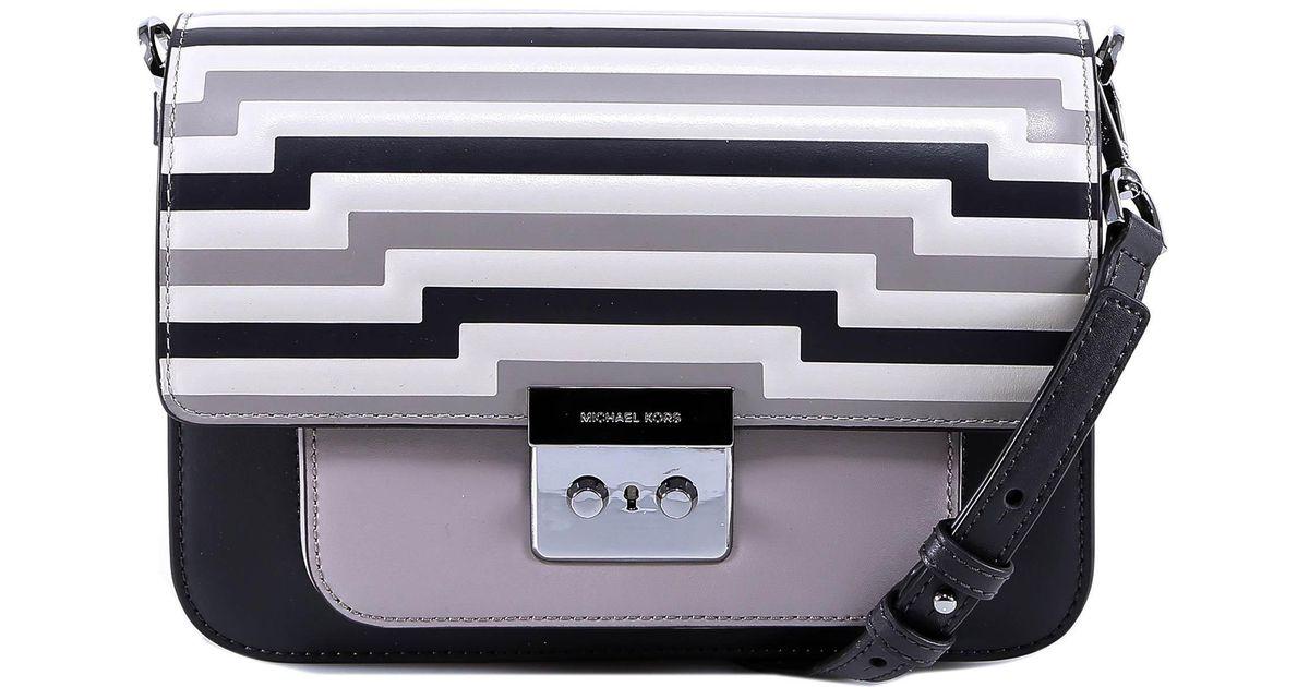 911f2166c110 MICHAEL Michael Kors Sloan Editor Tri-color Shoulder Bag in Gray - Lyst