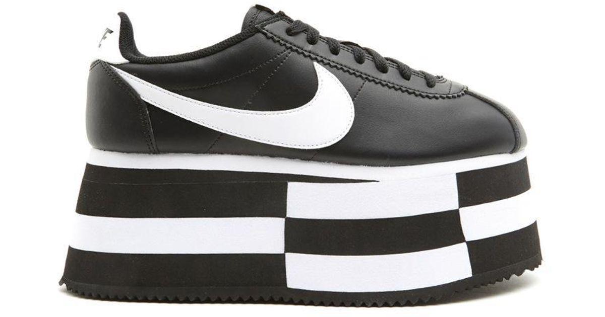 Lyst - Comme des Garçons X Nike Cortez Wedge Platform Sneakers in Black cfd62c487af7
