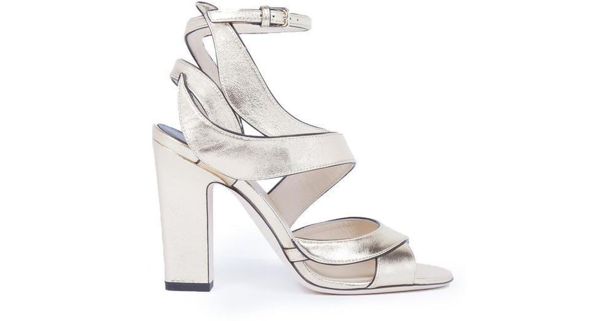 28430288a Lyst - Jimmy Choo Falcon 100 Sandals in Metallic