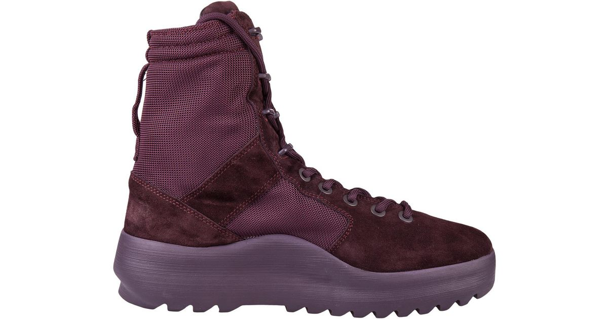 ee3e6536efec1 Yeezy Season 6 Combat Boots in Purple - Lyst