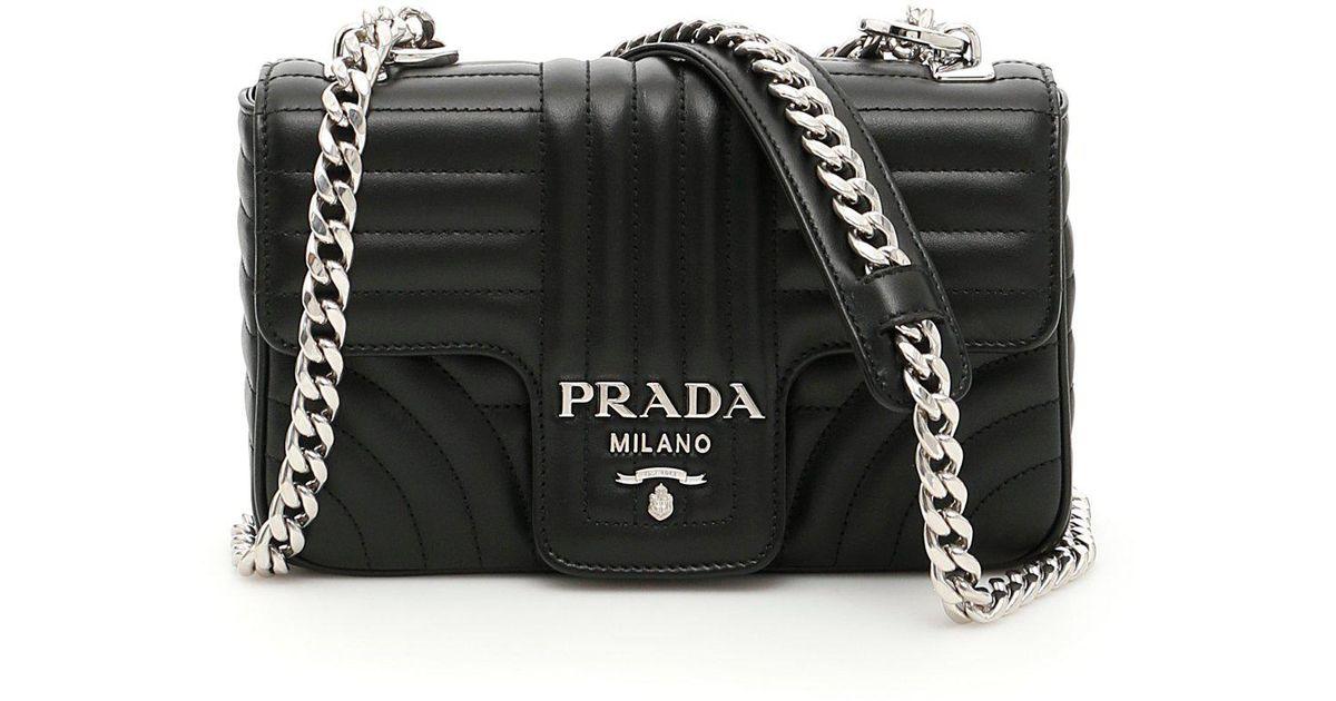 66a0d9b980bb Lyst - Prada Matelassé Shoulder Bag in Black