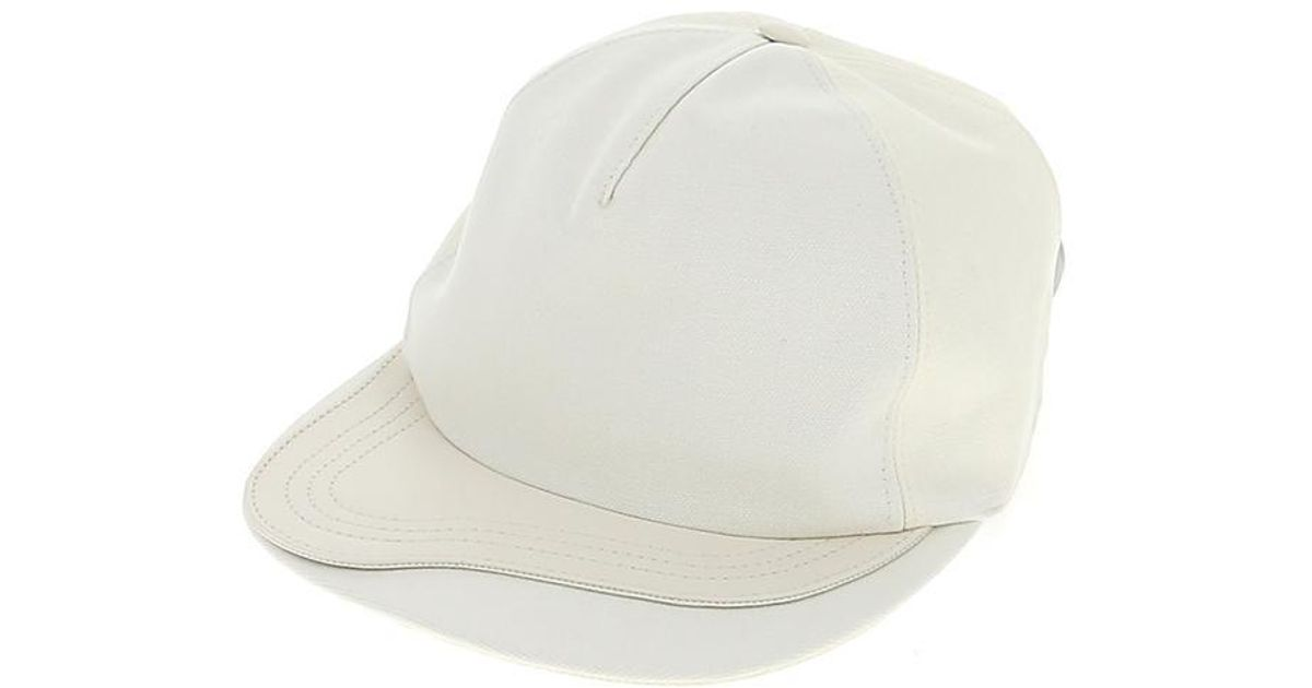 006462cc9 Dior Homme - White Buckle Baseball Cap for Men - Lyst