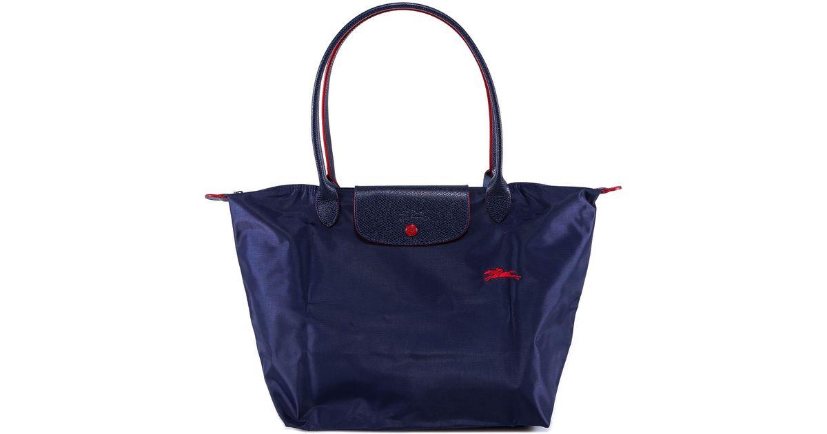 Longchamp Le Pliage Club Large Shoulder Bag in Blue - Lyst 68de7656ddd8b