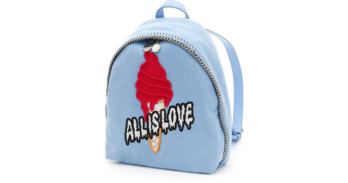 1e18f1e15c7a Stella McCartney All Is Love Backpack in Blue - Lyst