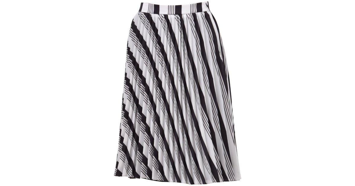 81b27c07287d Lyst - Balenciaga Sunray Stripe Pleated Skirt