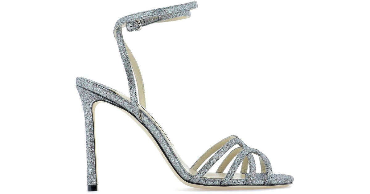 2ea6a18ab Lyst - Jimmy Choo Mimi 100 Sandals in Metallic