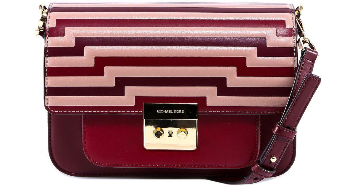 e5f3bd8c41af Lyst - MICHAEL Michael Kors Sloan Editor Tri-color Shoulder Bag in Red