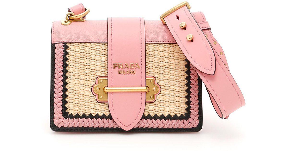 b99a522ff5c0 Prada Cahier Shoulder Bag in Pink - Lyst