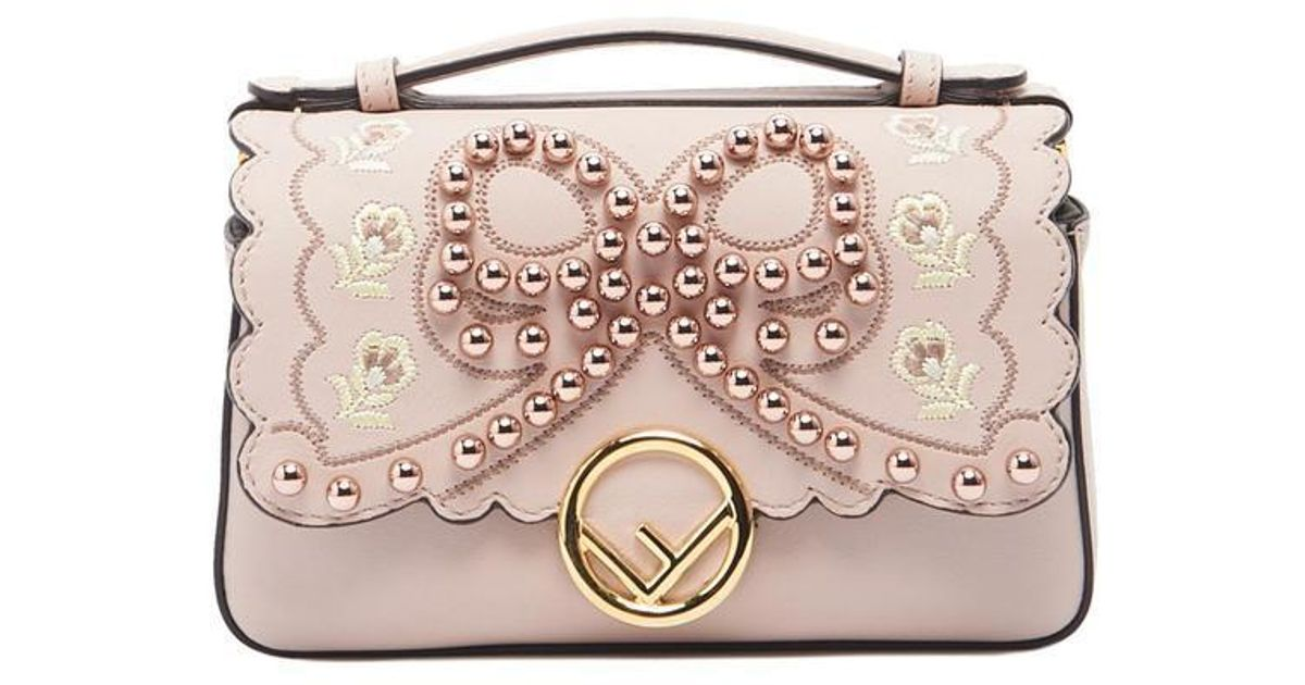 Lyst - Fendi Double Micro Baguette Bag in Pink - Save 42.532751091703055% 56cefd8437d08