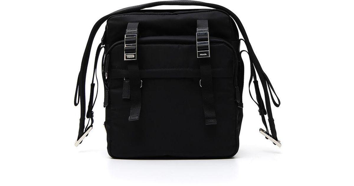 ec2ed045399e73 Lyst - Prada Pocket Messenger Bag in Black for Men