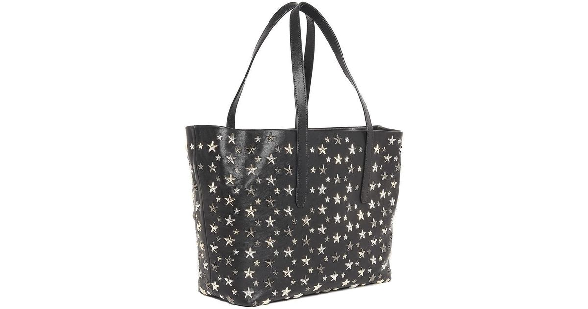 e03ae1b9b Jimmy Choo Sofia Star Studded Tote Bag in Black - Lyst