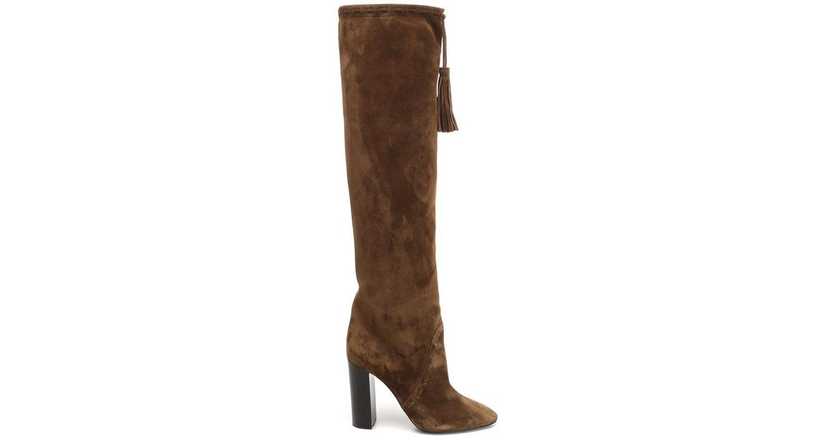 588d5af2f67 Lyst - Saint Laurent Meurice Boots in Brown