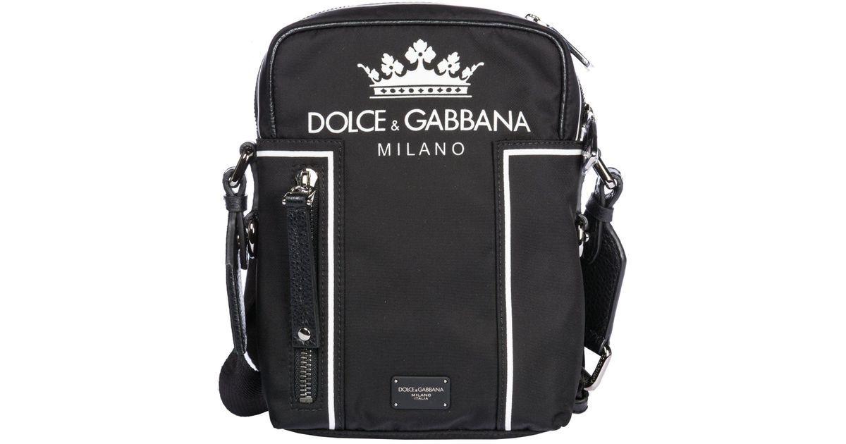 2b442814a9be Dolce   Gabbana Crown Logo Shoulder Bag Black in Black for Men - Save 16% -  Lyst