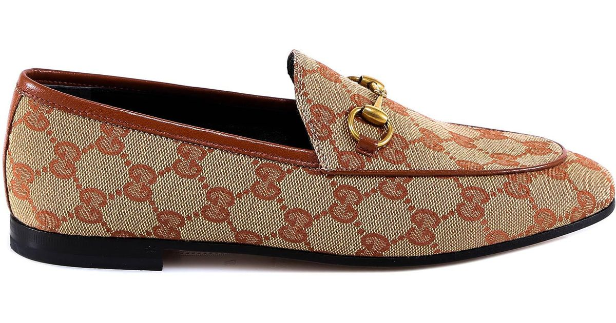 5e707eaddb63 Gucci New Jordaan Loafers in Natural - Save 30% - Lyst