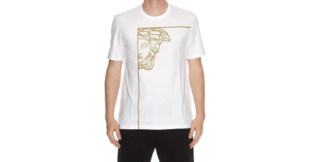 1b806a179 Lyst - Versace Printed Medusa T-shirt in White for Men