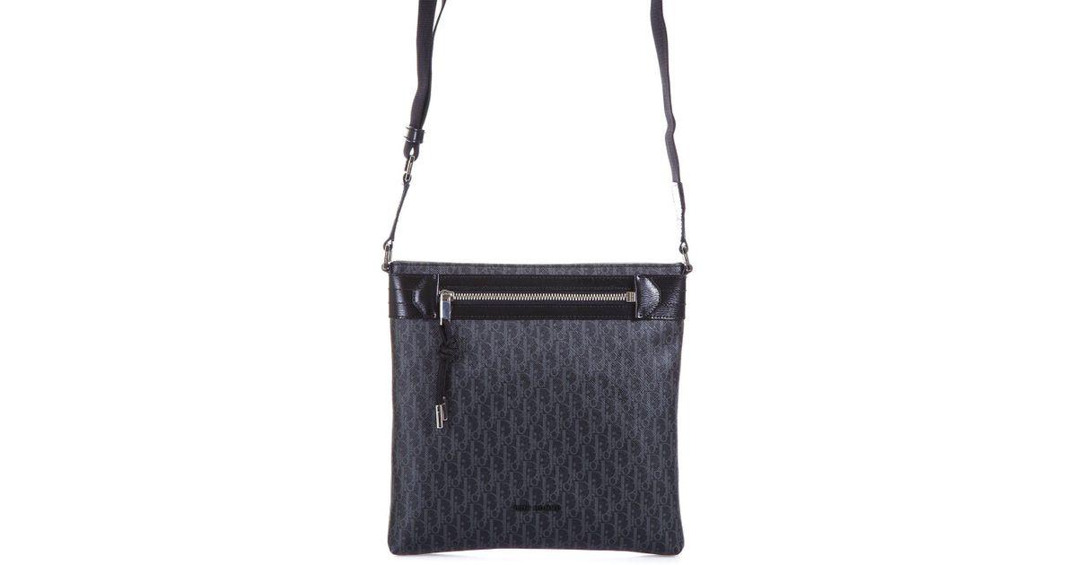 Dior Homme Monogram Shoulder Bag in Black for Men - Lyst 22fbdbcdcfa81