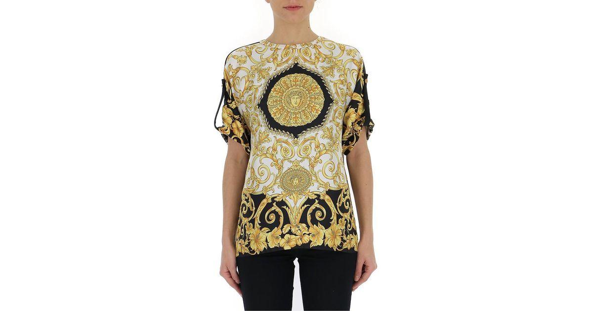 530bbd8e52ce Lyst - Versace Printed T-shirt