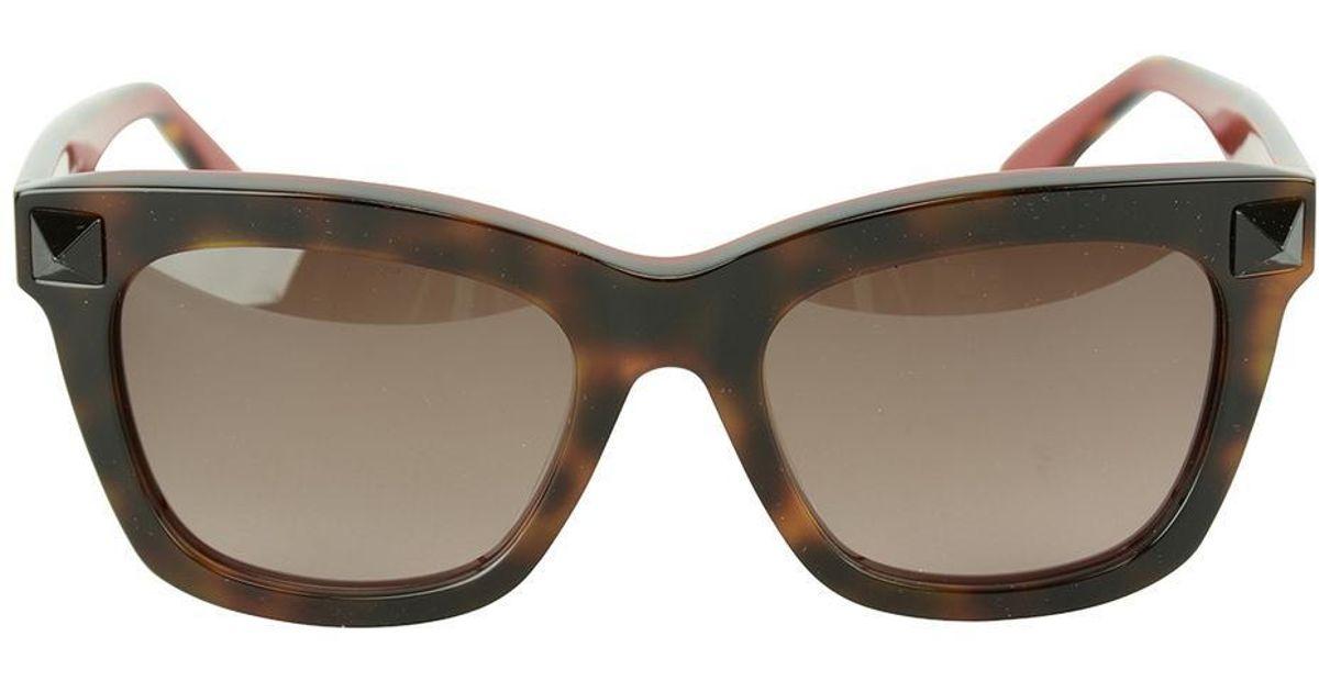 26ad2c129c7 Lyst - Valentino Colour Block Sunglasses