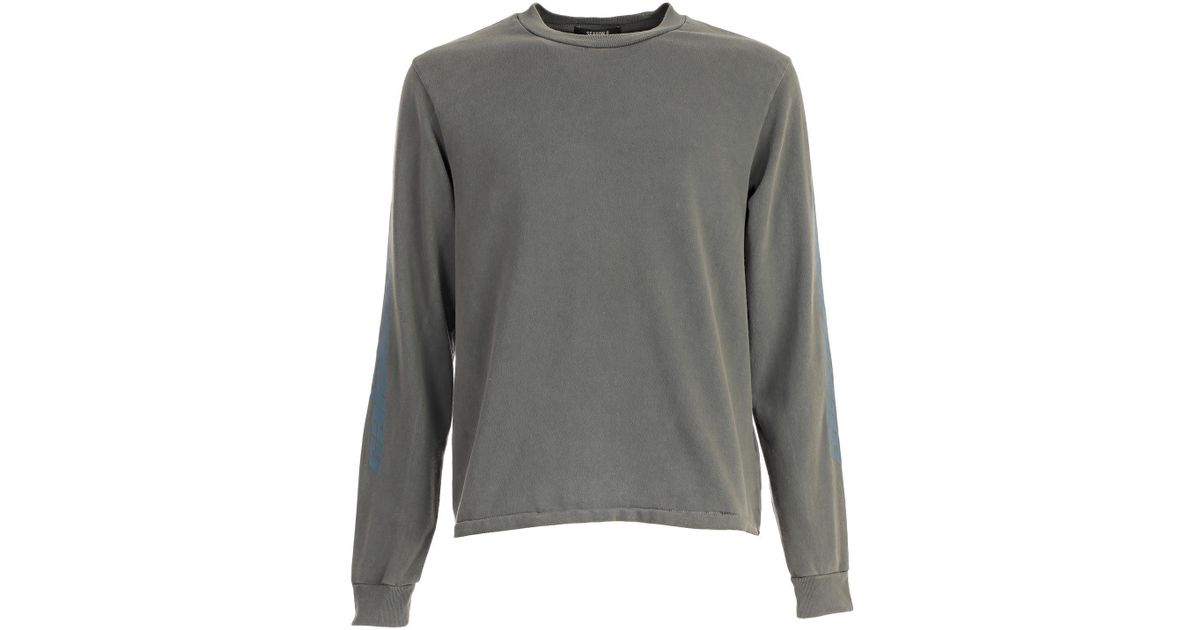 816ab732cbaea9 Yeezy Season 6 Calabasas Long Sleeved T-shirt in Gray for Men - Lyst