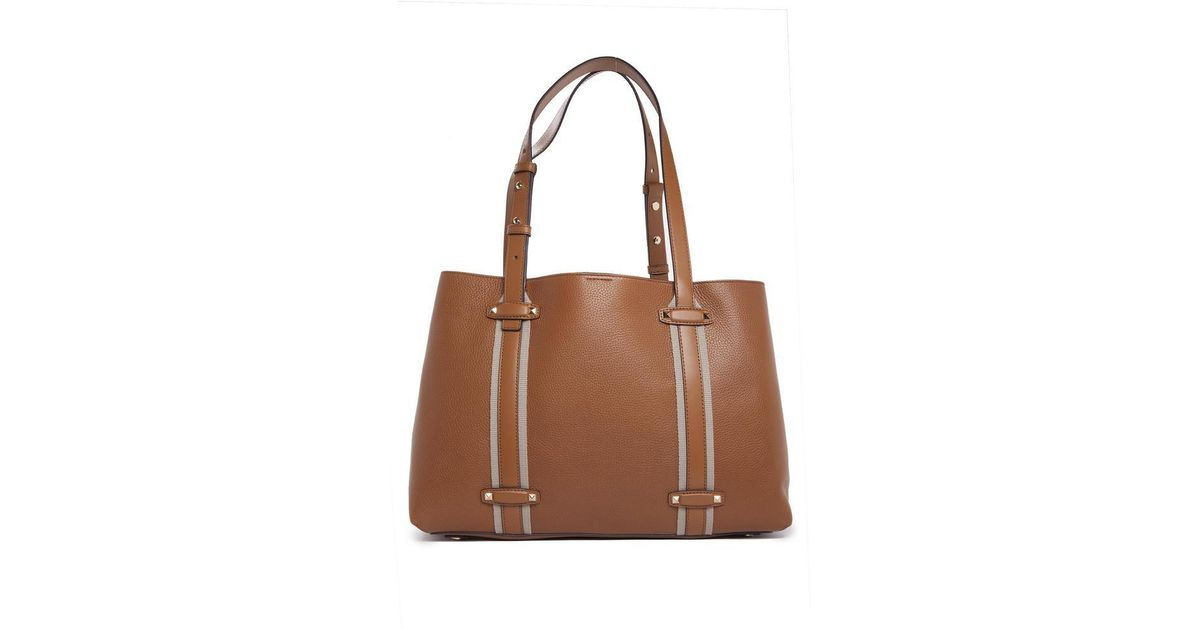 9abe3c66a485db MICHAEL Michael Kors Griffin Tote Bag in Brown - Lyst