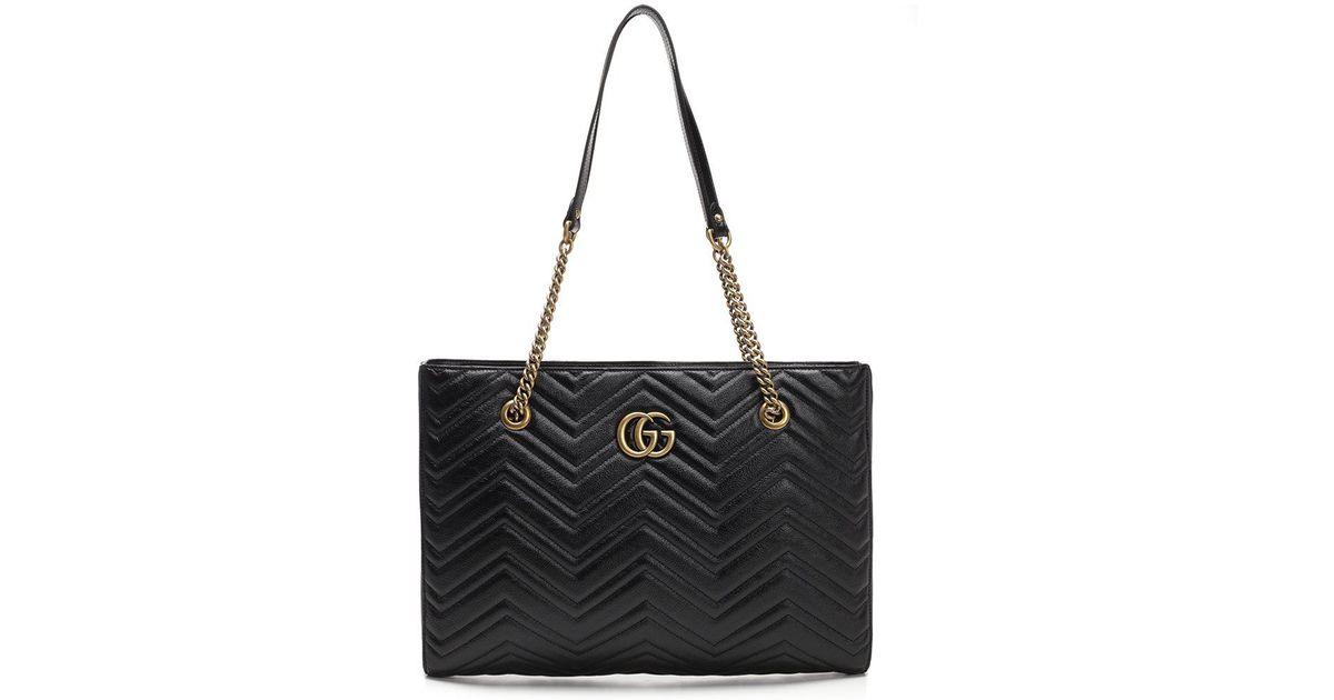 bea67620c75 Gucci Marmont Shopper Bag in Black - Save 26% - Lyst