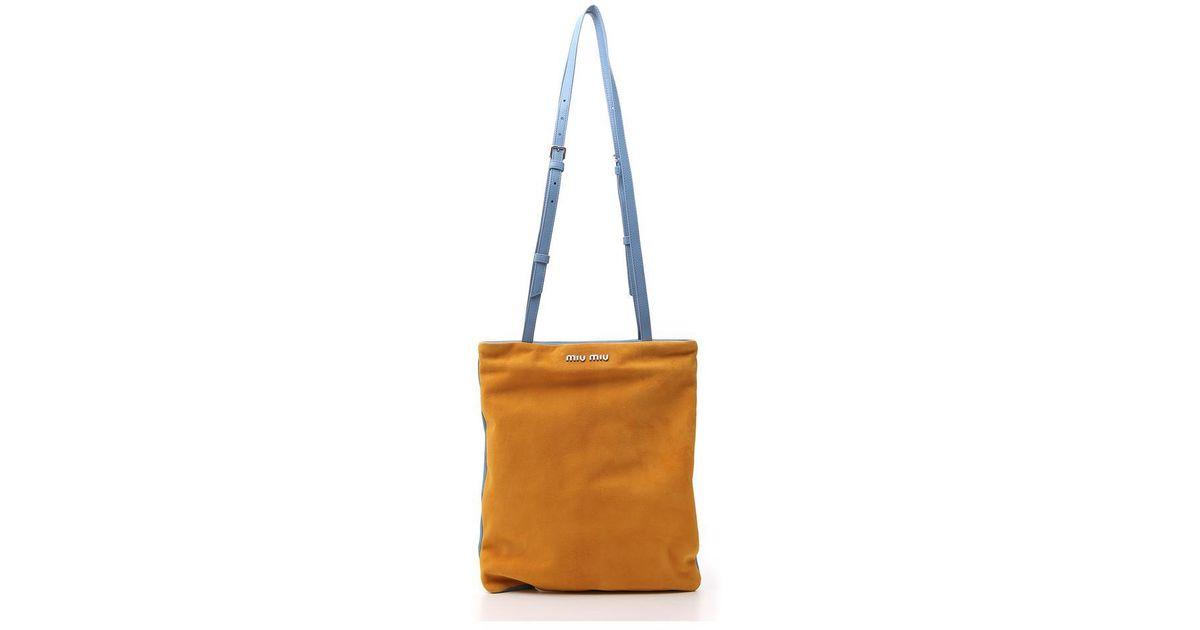 8fb8b250b14e Lyst - Miu Miu Contrast Colour Shoulder Bag in Brown